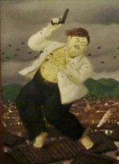 La muerte de Pablo Escobar, Botero, Museo de Antioquia, Medellín, Colombia